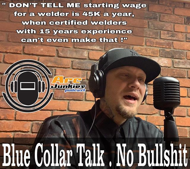Blue Collar Talk . No Bullshit  #arcjunkies #podcast #bluecollar #bluecollartalk #welder #welding #trades #union #makeweldingsexyagain #welddevils #weldporn #weldingsmostwanted #weldernation #podcastdetroit #poipodcastnetwork