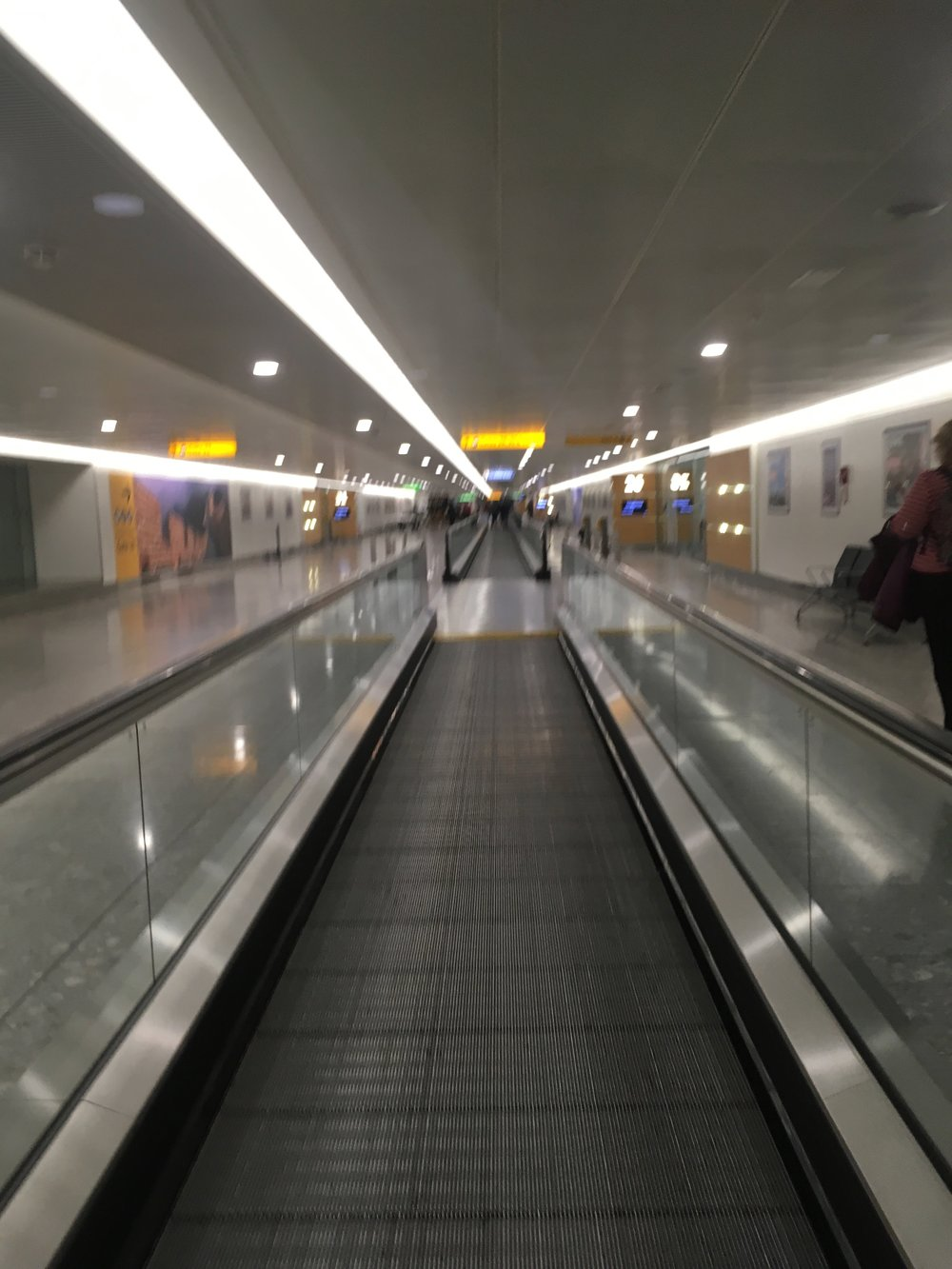 The never-ending underground journey at Heathrow Terminal 3.