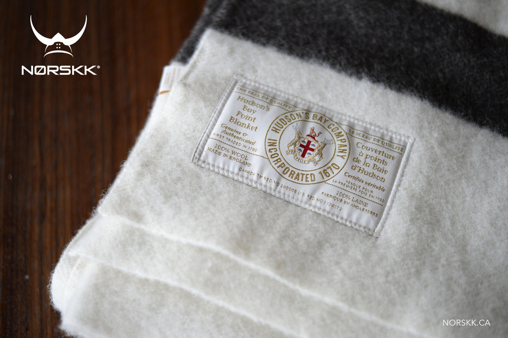 The Hudson's Bay Point Blanket: Proudly used to this day by NORSKK in Canada and worldwide!