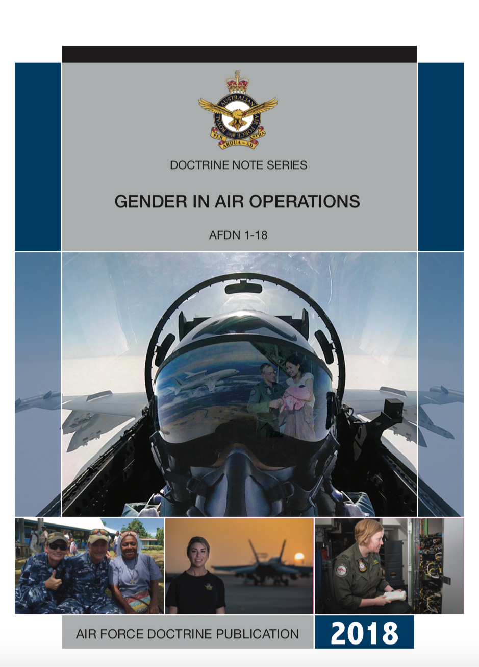 Click to access the official Australia Defence Force (ADF), Air Force Doctrine Publication, Gender in Air Operations, ADFN 1-18