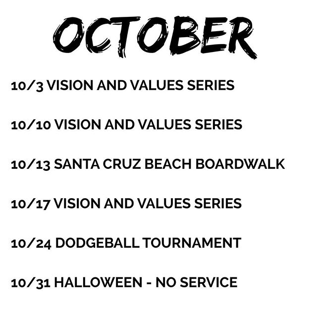 Happy October! We have some exciting things in store for you guys this month! 👏🏼