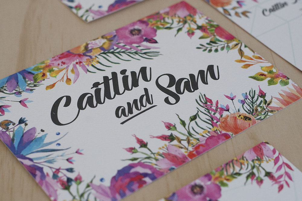 Floral Spring Bright Wedding Invitation