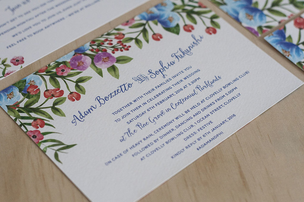 Botanical Floral Spring Wedding Invitation