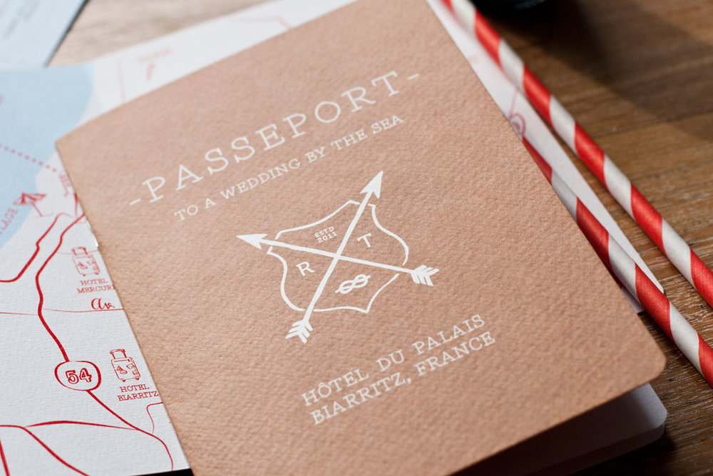 Passport Wedding Invitation Destination Wedding