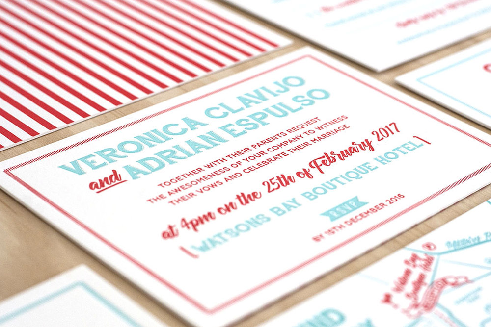 Wedding Invitation Letterpress