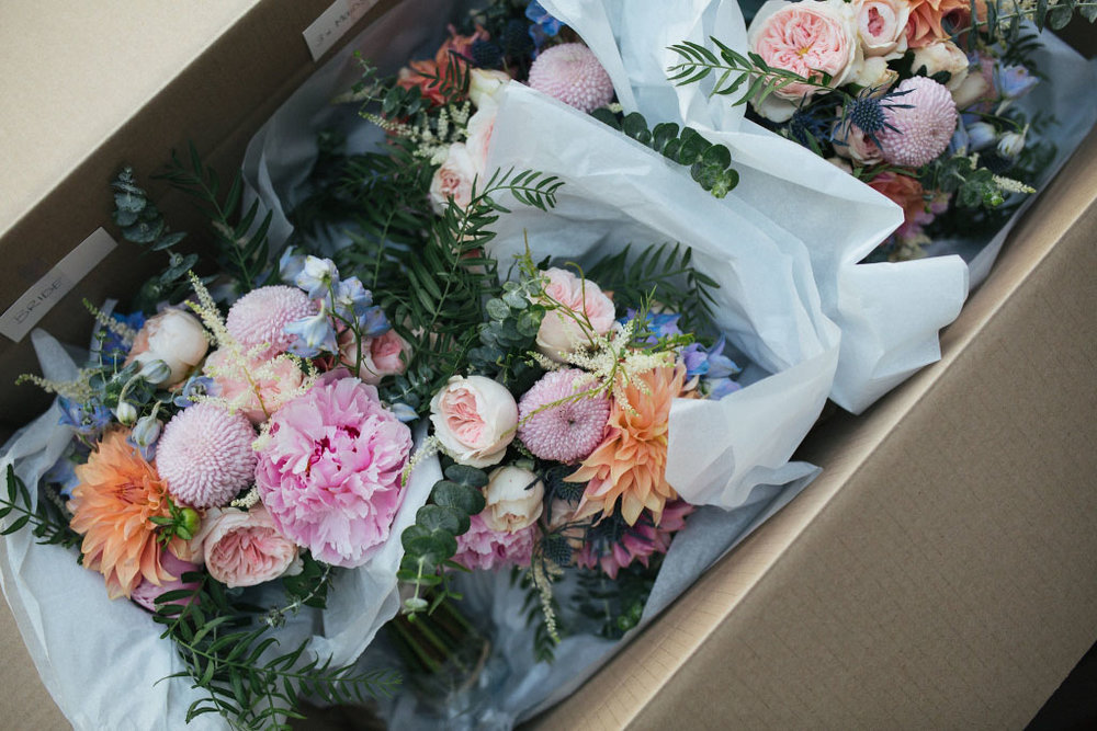 Flowers created for bride and groom