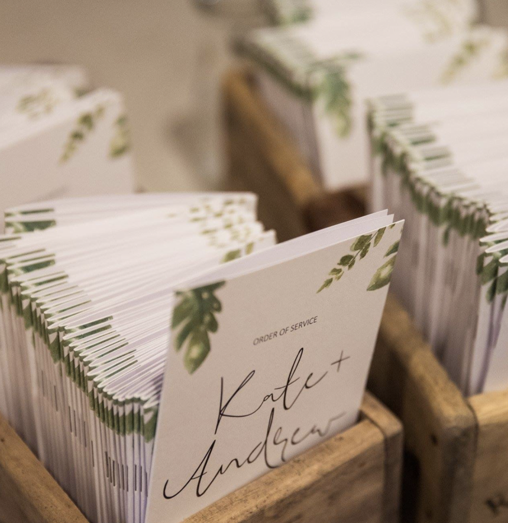 More greenery / Day Of Stationery pieces / We love you Kate + Andrew!