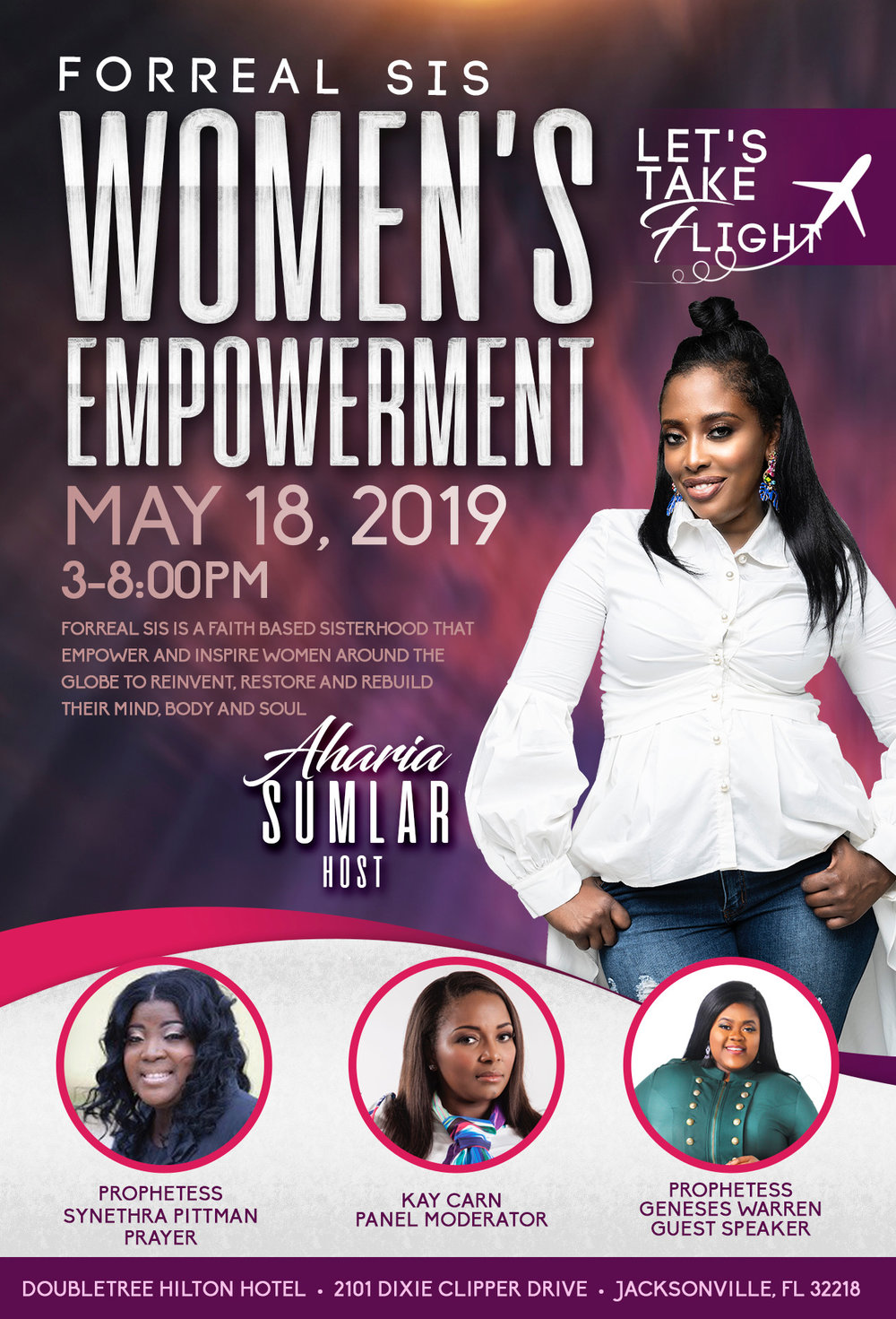 Forreal Sis Women's Empowerment Flyer