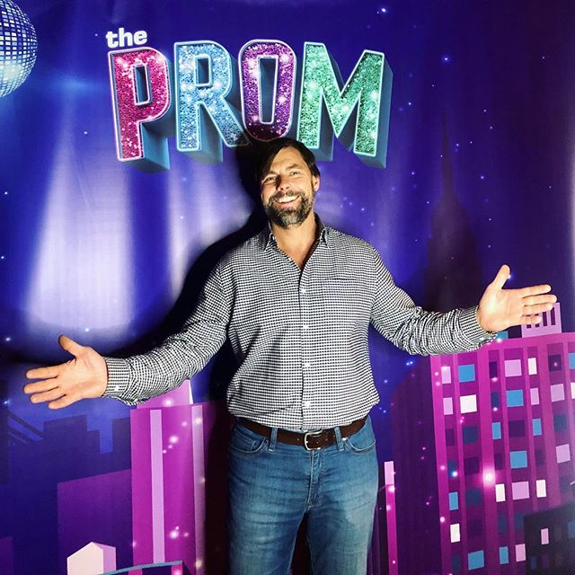 """The man behind the magic! Our fearless leader, Shawn Sedlacek, stopped by """"The Prom"""" musical while working in New York. Now which one of our schools wants a Broadway themed prom 🤔 🎭 🌃"""