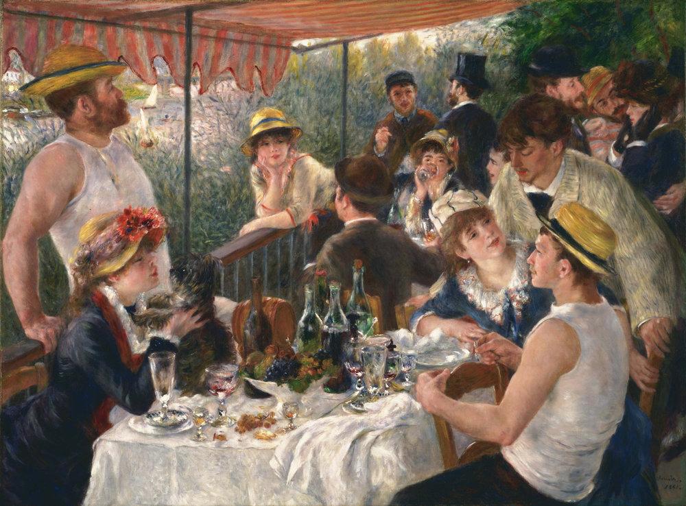 """""""Le déjeuner des canotiers"""" Auguste Renoir - 1881"""