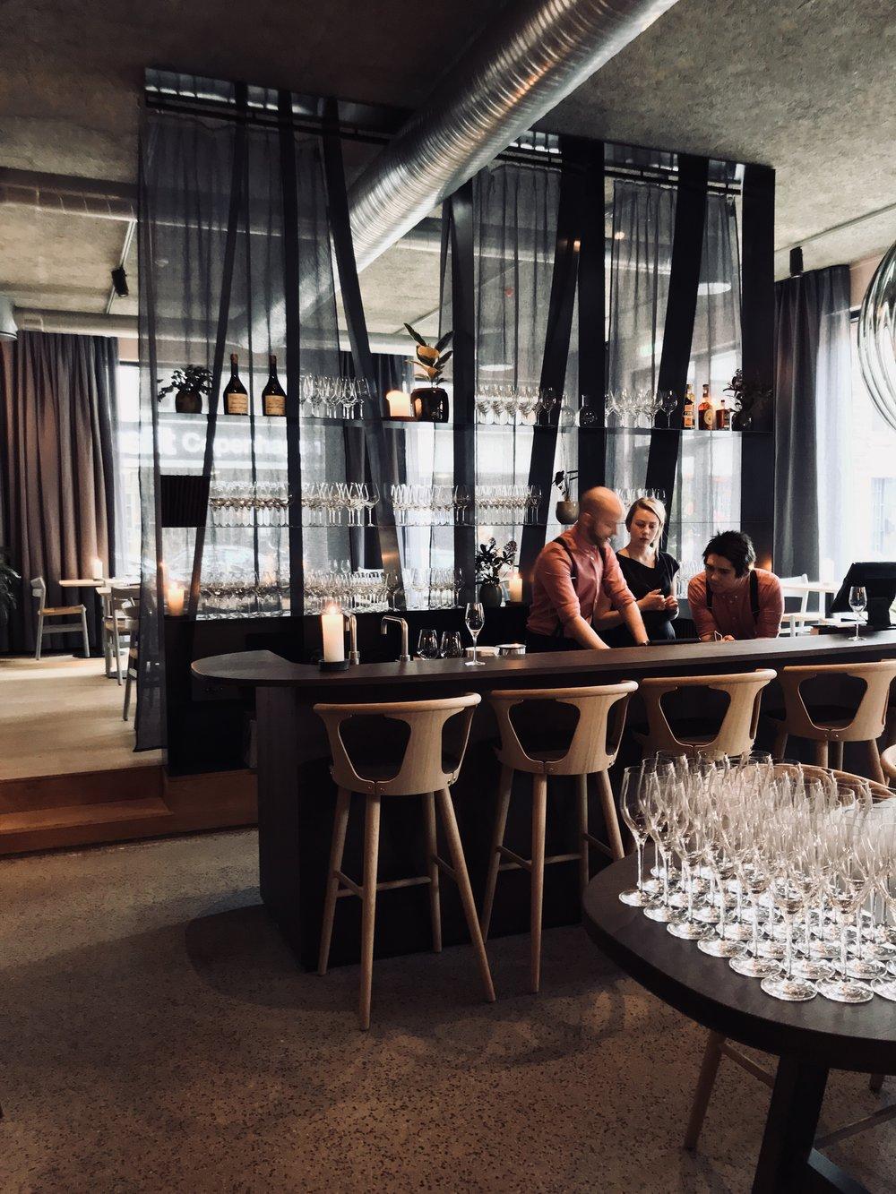 Restaurant Glød Copenhagen, danish interior design bar by GARDE
