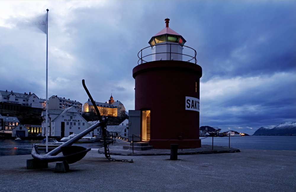 Hotel Brosundet Lighthouse Suite, Ålesund, Norway, Rustic hotel suite in a 150 years old lighthouse, by GARDE. Mads Emil Garde