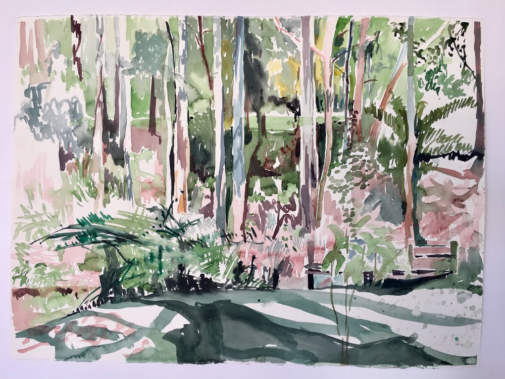 En Plein Air Tanya Baily Watercolour on paper 58cmx78cm