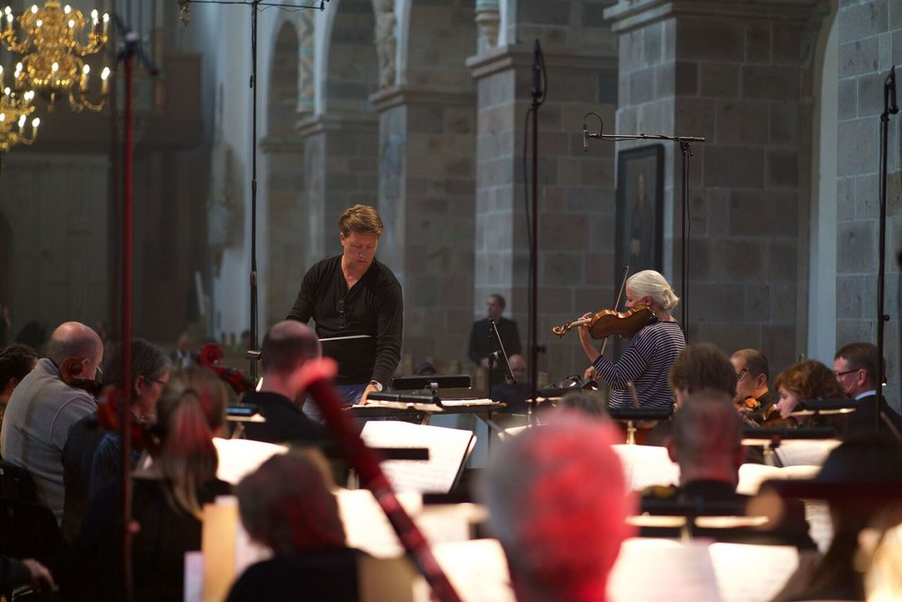 rehearsal before the concert 3rd of september 2017 in Ribe