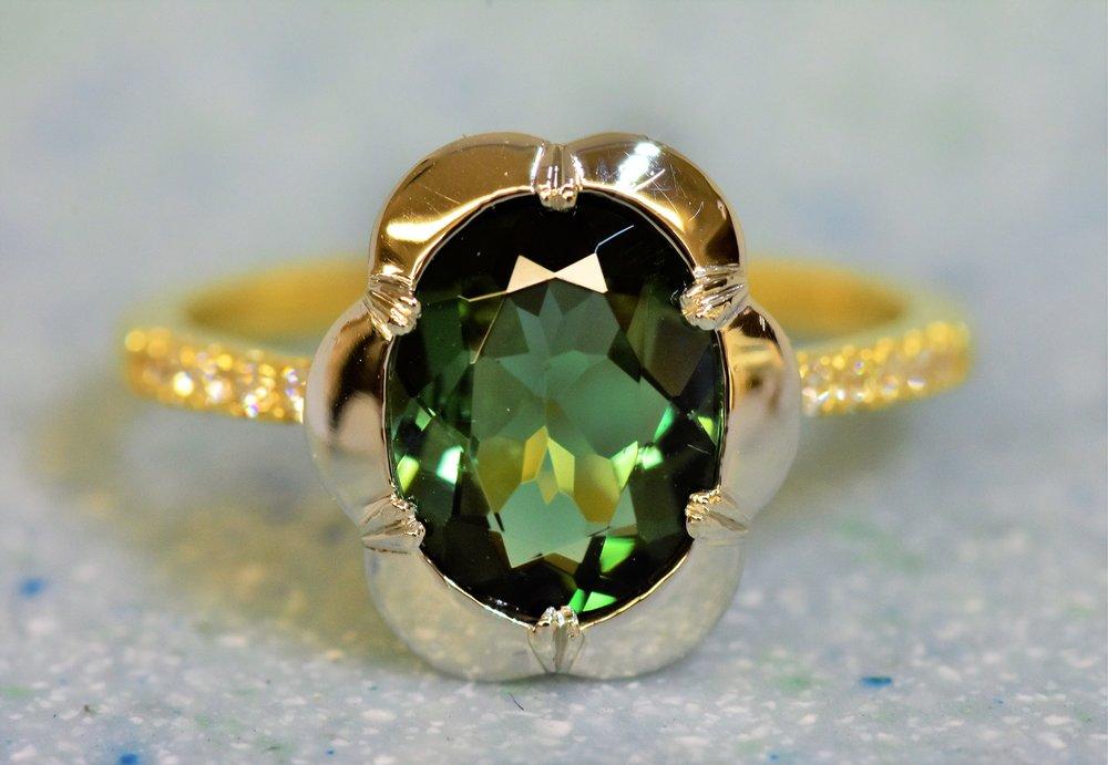 green tourmaline georgian floral ring.JPG