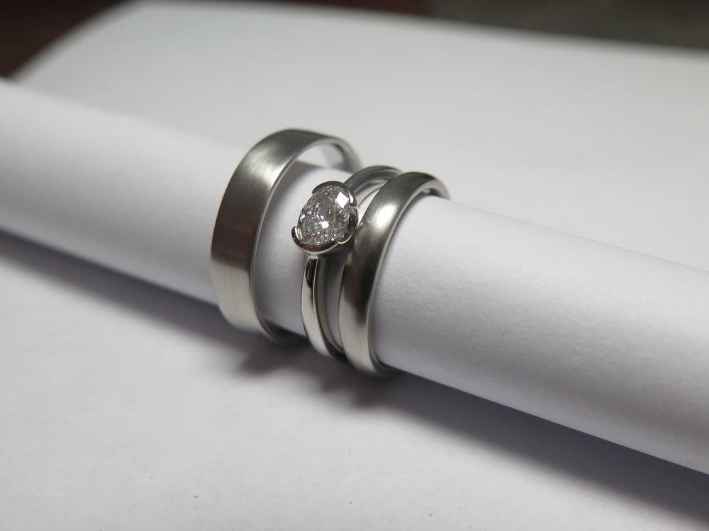 Rosalyn's Emporium. Trio of bespoke Platinum rings.JPG