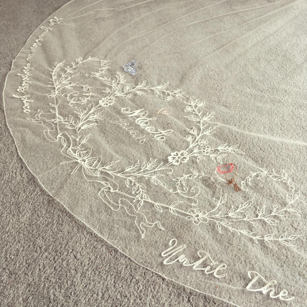 Personalised Veil by  Daisy Sheldon