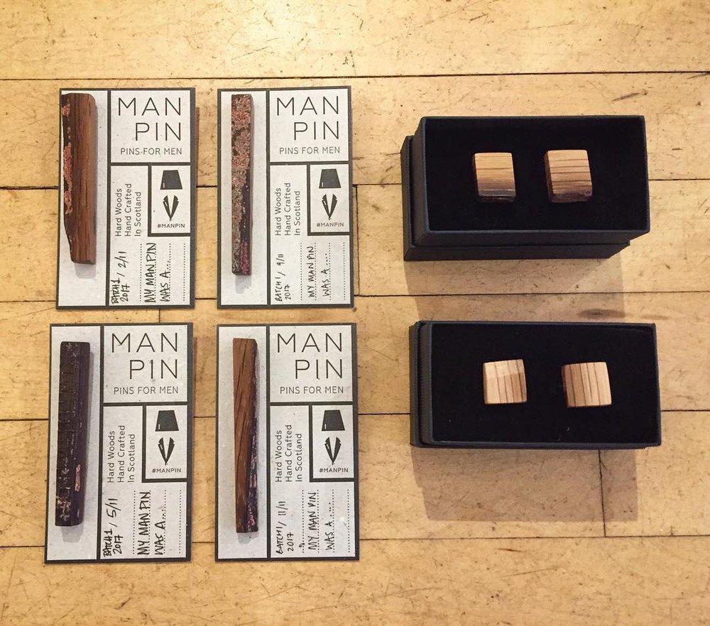 Pins & Cufflinks made by  Man Pins