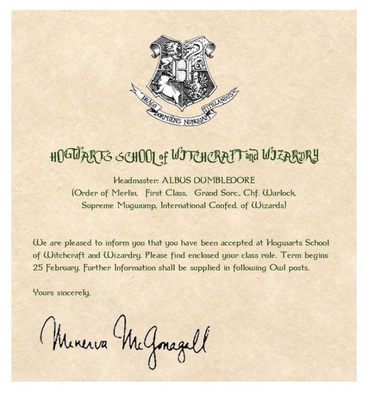 Your Invitation to Hogwarts The border of competence