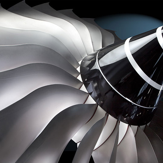 Titanium Alloy - Titanium is used in aero-engine and airframe applications for its high strength, low density and performance at temperatures from sub zero to 600°C (image credit Rolls-Royce and Matt Beardsley).