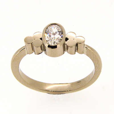 Triscel Diamond Engagement Ring