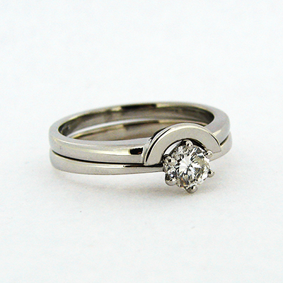 Diamond Solitaire and Fitted Wedding Ring