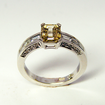 Yellow Diamond Engagment RIng
