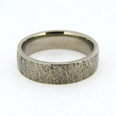 Hammer Textured Wedding Band