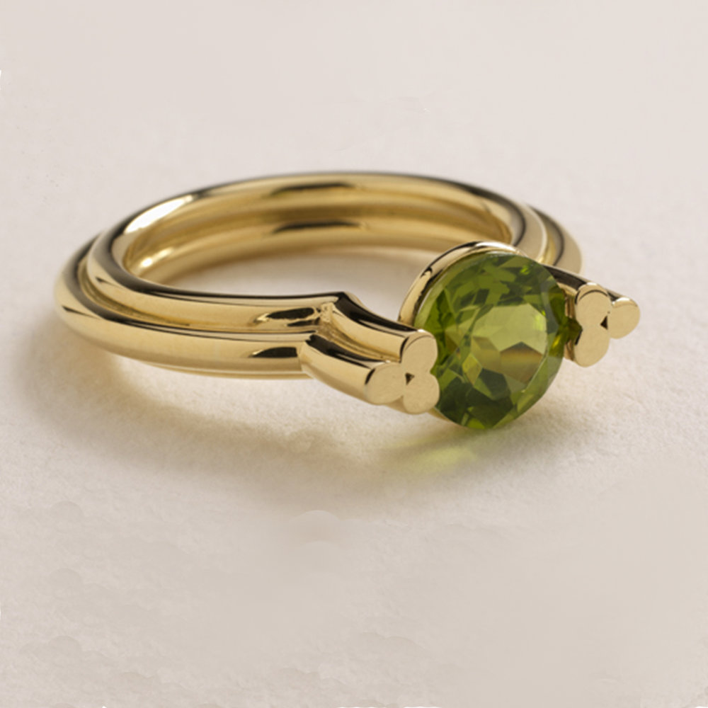 Image 6, 18ct Yellow Gold Ring, Peridot.jpg