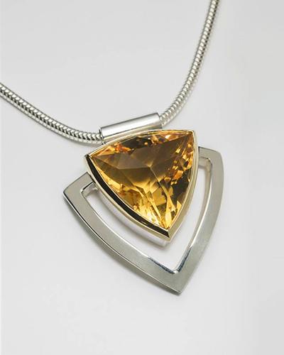 Trillion fancy cut citrine, Sterling Silver, 18ct Yellow Gold.jpg