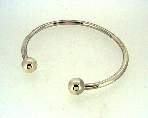 Sterling Silver Bangle with Spheres.jpg