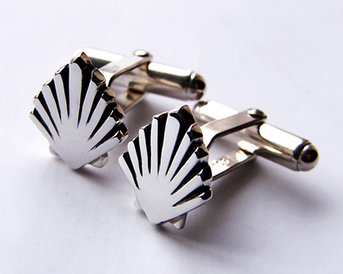 Camino Cufflinks Sterling Silver Oxidised.jpg