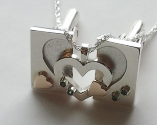 Pendents and Cufflink Heart in Heart Wedding Set.jpg