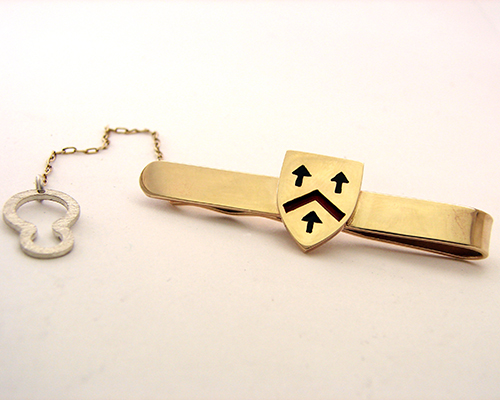 Tie Slide 9ct yellow Gold Enamel.jpg