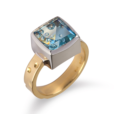 Yellow and White Gold Dress Ring with Blue Topaz.jpg