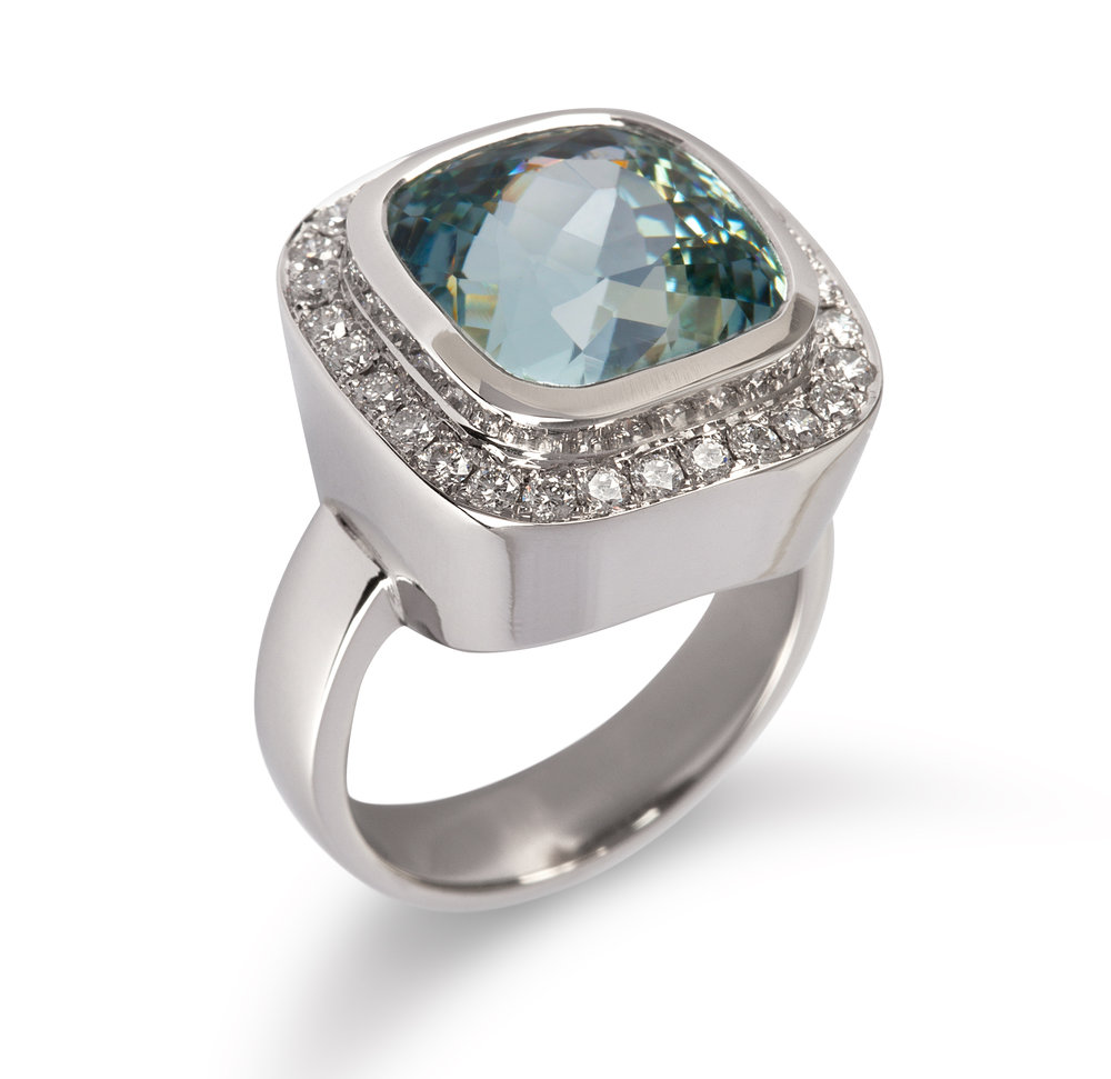 Aquamarine, Diamond, 18ct White Gold Ring Cropped.jpg