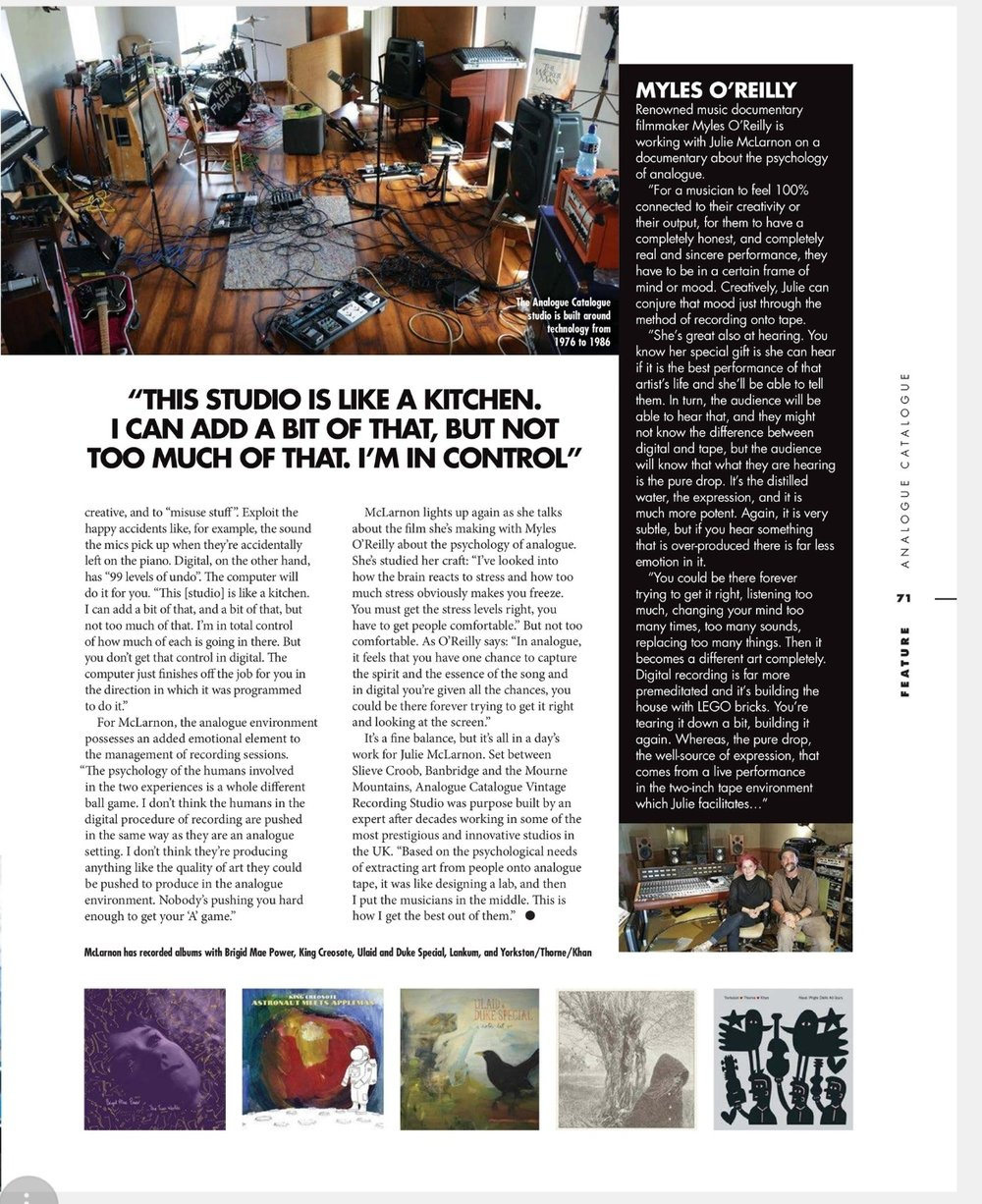 A page from the 4 page feature in February Long Live Vinyl Magazine