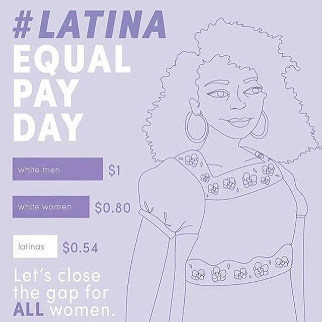Today marks the day that Latina women have to work an extra 10 months to make the same amount as a white male in 2016. Do not stay silent, we must demand equal pay for equal work! #closethegap #latinaequalpayday #txconfwomen 📸: @remezcla