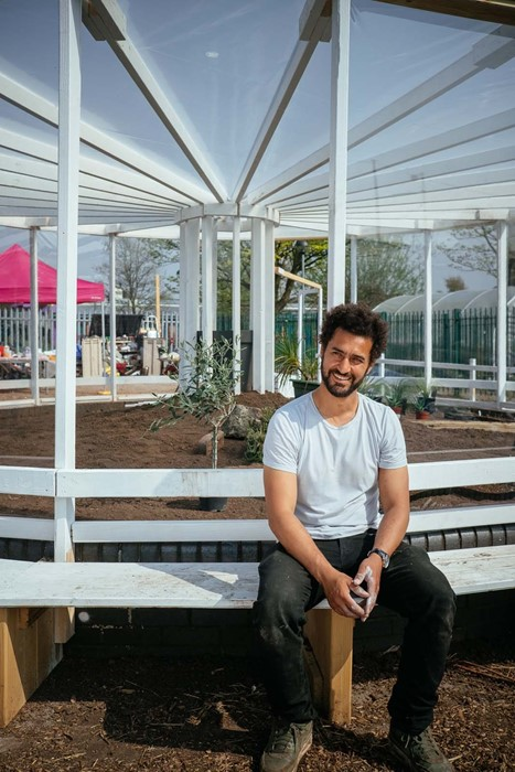 Mohamed Bourouissa, Resilience Garden (2018) and Granby Gardening Club, April 2018. Commissioned by Liverpool Biennial in partnership with Kingsley Community School and Granby Four Streets CLTPhotography Pete Carr