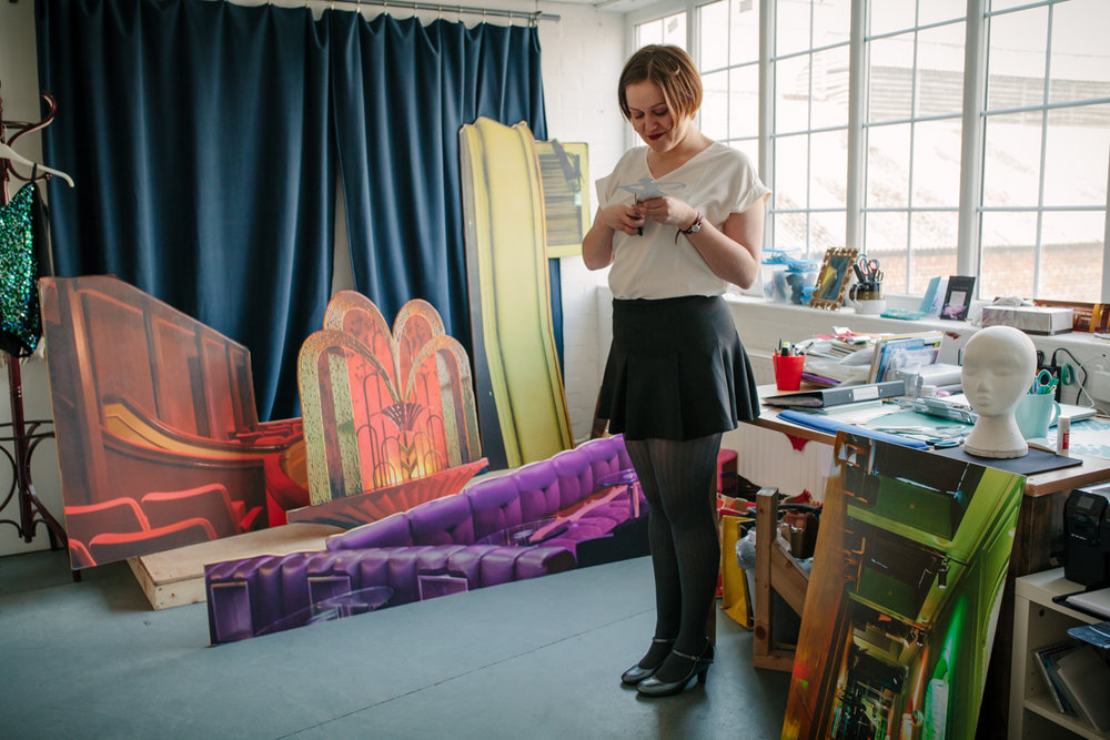 Allie in her Studio. Photo by Mark Howe.