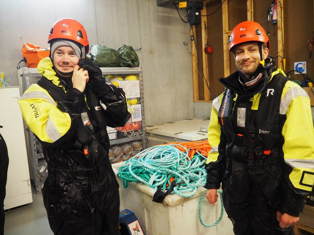 Two happy representatives from NTNU Ocean Club. Photo: NTNU Havbruk