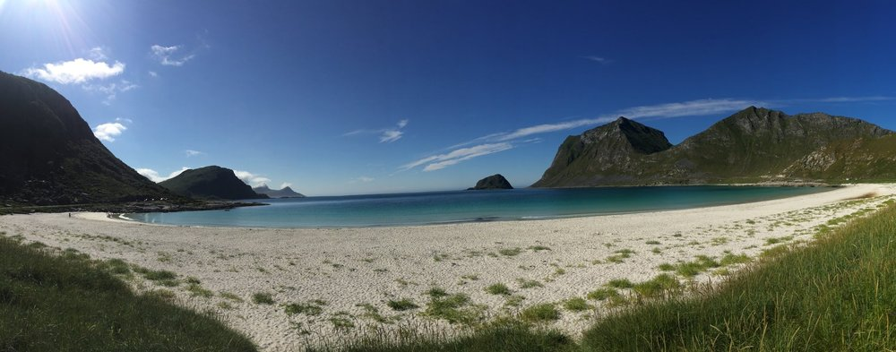 It looks clean from Haukland beach in Lofoten,but 15 tons of plastic are released into the ocean every minute.Photo: Ingrid Holtan Søbstad