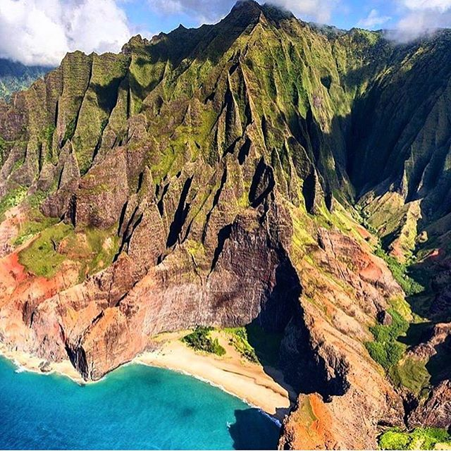 Kauai is breathtaking, no way to feel otherwise.  Cliffs, rain, waterfalls, rainbows, sand, sun... and beautiful people full of Aloha. Come spend a week here with us writing the stories of your life and expand your horizons.  Retreats in Feb & April still have space! #writing #writersofinstagram #writingcommunity #writingretreats #writingtime #explore #kauai #hawaii #kauaihawaii #kauailove #kauaihawaiiretreats #retreat #retreatlife #retreat2018 #creativewriting #soul #soulfood #beauty #onwriting PC: @sunshinehelicopters @key2kauai