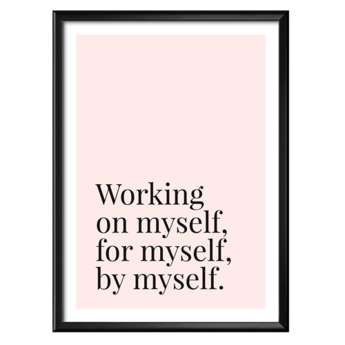working on myself poster the female hustlers
