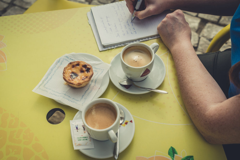 Coffee and nata. enjoying luch while working. workkng while hvaing lunch on albufeira..jpg