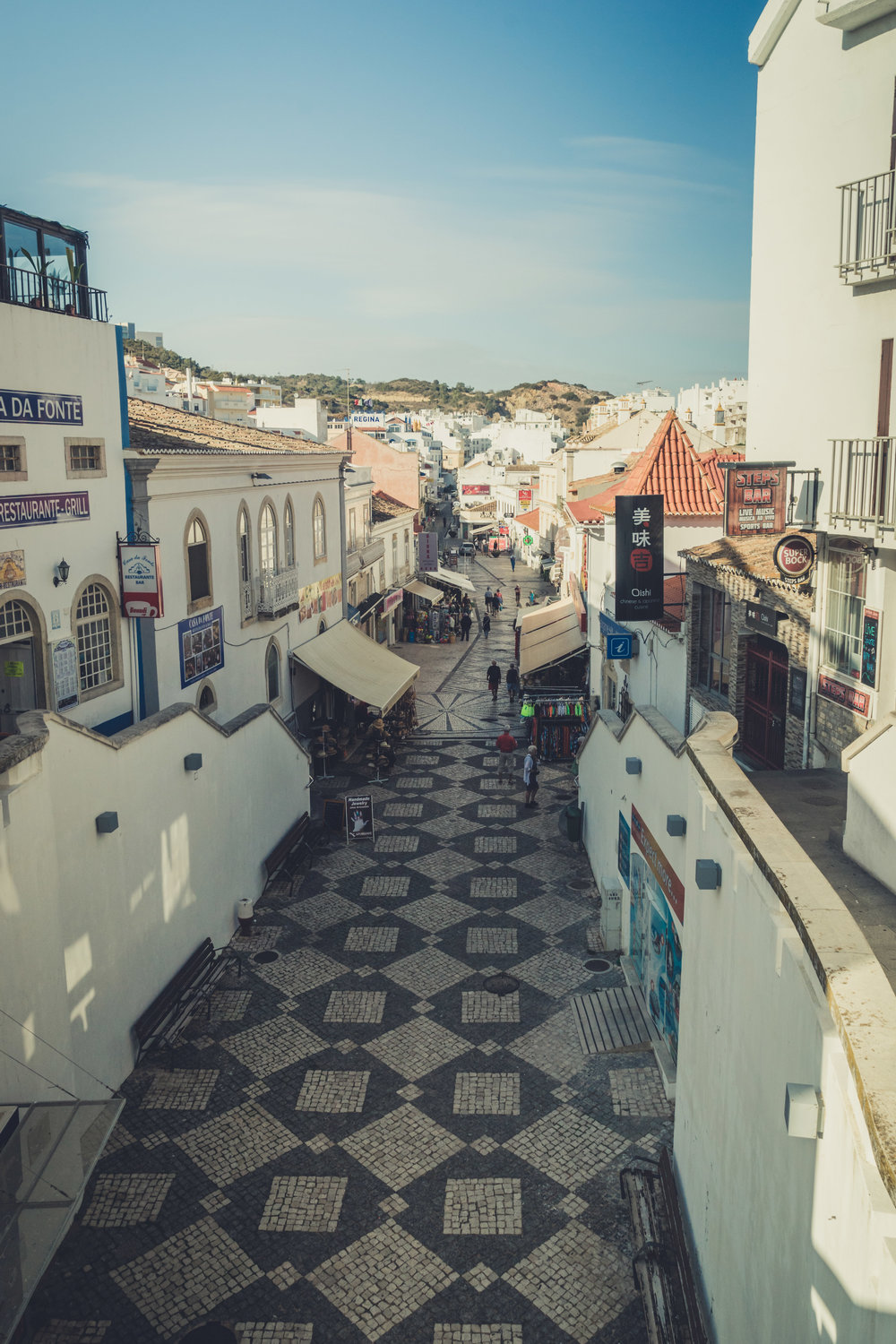 Main street albufeira. shopping and food in albufeira..jpg