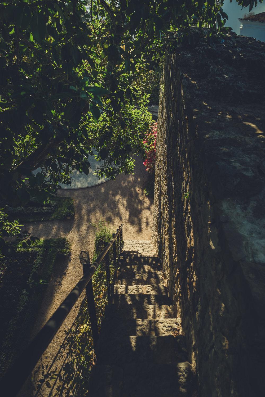 Side street in tavira. tavira in the algarve. Olf town tavira..JPG