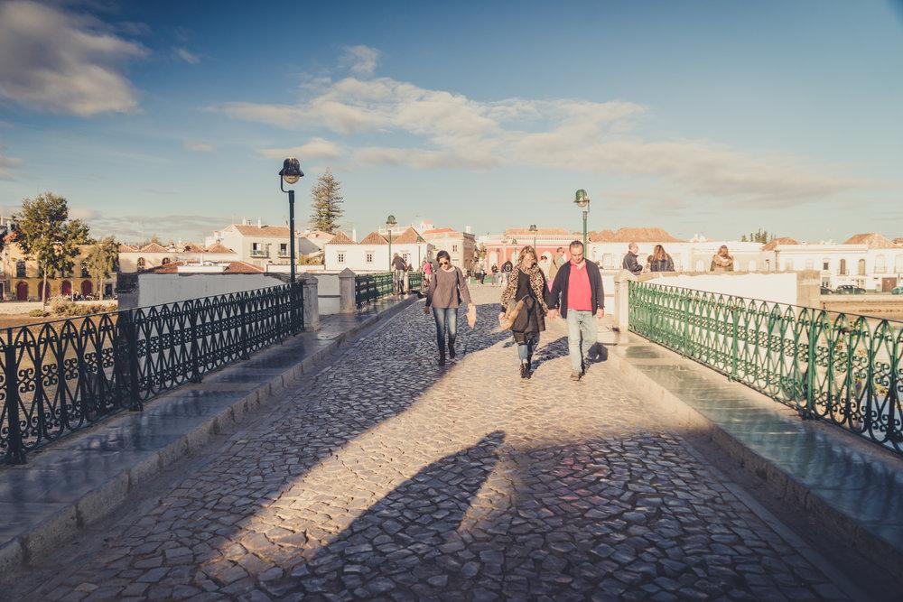 Tavira Roman Bridge. Old town Tavira. Street scene in Tavira. Algarve..JPG