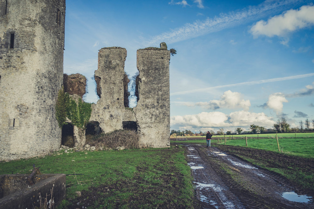 Ireland. Castle. Old castle. irish history. history. Rock of Dunamase. blue sky. rock. pathway. adventure. travel. irish counrty. Ballyadams castle.  castle walls.jpg