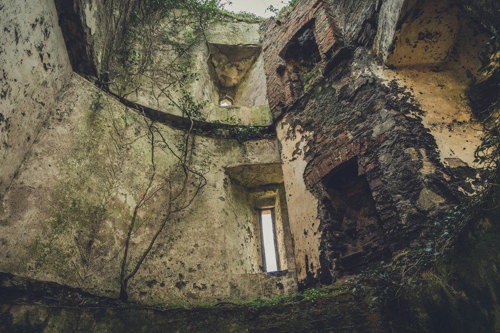Ireland. Castle. Old castle. irish history. history. Rock of Dunamase. blue sky. rock. pathway. adventure. travel. irish counrty. green fields. Ballyadams castle..jpg
